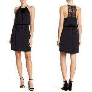 NSR Halter Lace Trim Dress